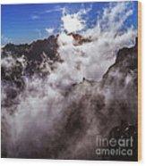 Clouds In The Caldera De Taburiente Wood Print