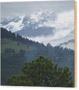 Clouds In The Rockies Wood Print