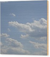 Clouds In The Sky One Wood Print