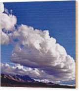 Clouds Marching Wood Print