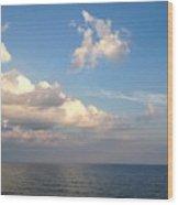 Clouds Meet Ocean Wood Print