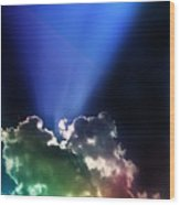 Clouds Of Faith Wood Print