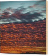 Clouds Of Fire Wood Print