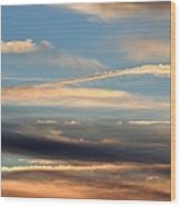 Clouds Of Natural Art Wood Print