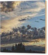 Clouds Of Oregon Wood Print
