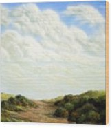 Clouds Of Spring Wood Print
