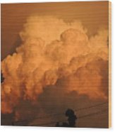 Clouds On Fire Wood Print