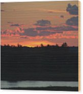 Clouds On Fire - Thousand Island Sunset -  Wood Print