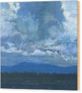 Clouds On The Kootenai Wood Print