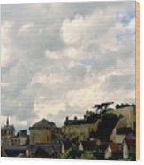 Clouds Over Amboise Wood Print