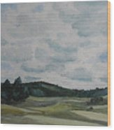 Clouds Over Boot Hill Wood Print
