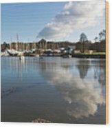 Clouds Over Cockwells Boatyard Mylor Bridge Wood Print