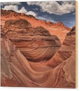 Clouds Over Coyote Buttes North Wood Print