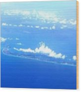 Clouds Over Cuba Wood Print