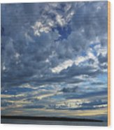 Clouds Over English Bay From Sunset Beach Vancouver Wood Print