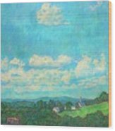 Clouds Over Fairlawn Wood Print