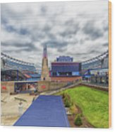 Clouds Over Gillette Stadium Wood Print