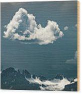 Clouds Over Glacier, Banff Np Wood Print