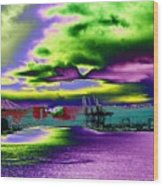 Clouds Over Harbor Island Wood Print