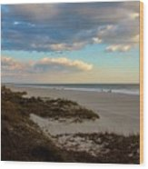 Clouds Over Holden Beach Wood Print