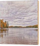 Clouds Over Lake Wood Print