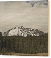 Clouds Over Lassen Peak Wood Print