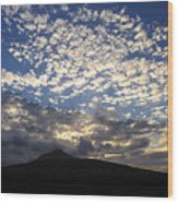 Clouds Over Mount Slievemore Wood Print