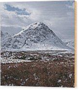 Clouds Over Mountains, Glencoe, Scotland Wood Print