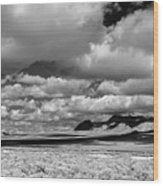 clouds over Nevada desert Wood Print