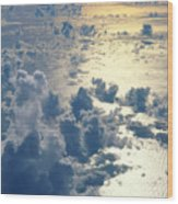 Clouds Over Ocean Wood Print by Ed Robinson - Printscapes