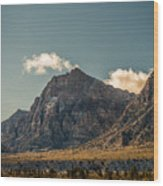 Clouds Over Red Rock Canyon Wood Print