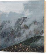 Clouds Over Sandia Wood Print