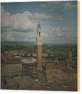 Clouds Over Siena Wood Print
