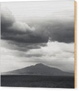 Clouds Over The Bay Of Naples Wood Print