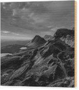 Clouds Over The Isle Of Skye Wood Print
