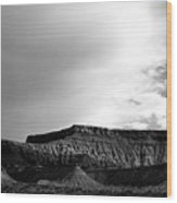 Clouds  Over The Mesa Wood Print