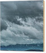 Clouds Over The Mountans 1329tmt Wood Print