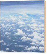 Clouds Over The Ocean Wood Print