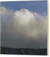 Clouds Over The Ridge Wood Print