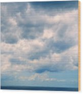 Clouds Over The Sea Wood Print