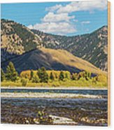 Clouds Over The Teton Foothills Wood Print