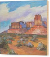 Clouds Passing Monument Valley Wood Print