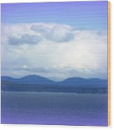Clouds Puget Sound Wood Print