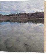 Clouds Reflect Wood Print