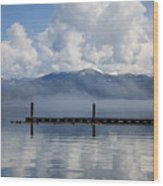 Clouds Reflecting Off Priest Lake Wood Print