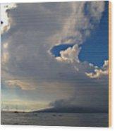 Clouds Rising Wood Print