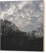 Clouds Roll Over The Sky Wood Print