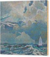 Clouds Sails Wood Print