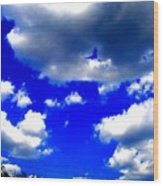 Clouds Study  1 Wood Print