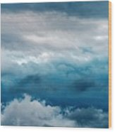Clouds Two Wood Print